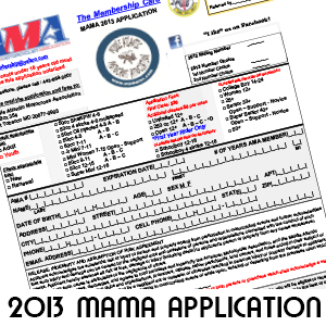 2015 MAMA Welcome Letter and Application