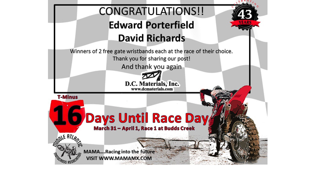 16 Days Until Race Day!