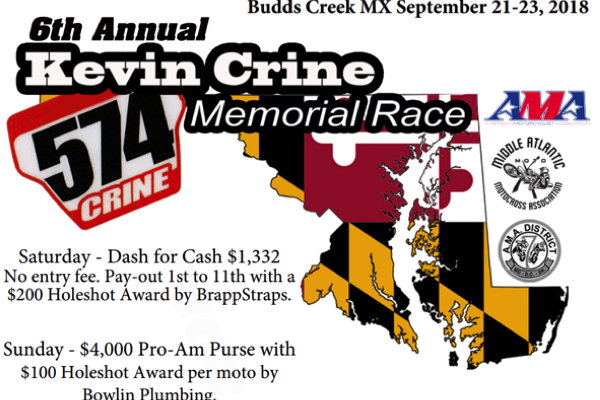 6th Annual Kevin Crine Memorial Race Sept 21-23rd *CLICK FOR RACE INFORMATION AND ONLINE SIGNUP*